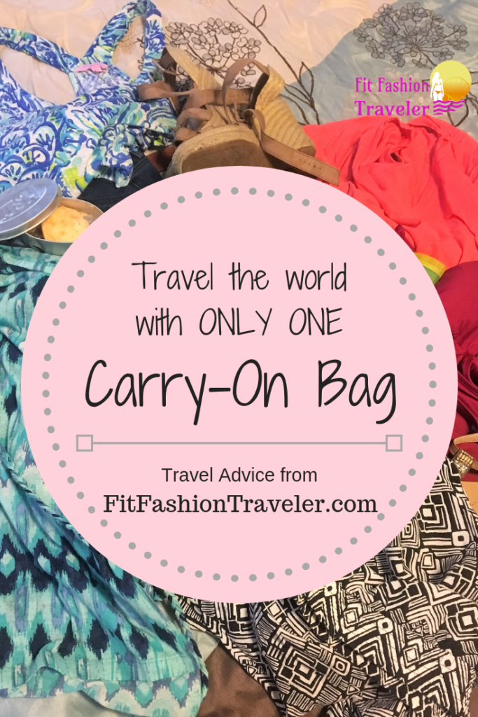 Travel advice on how to travel for weeks with only one carry-on bag.
