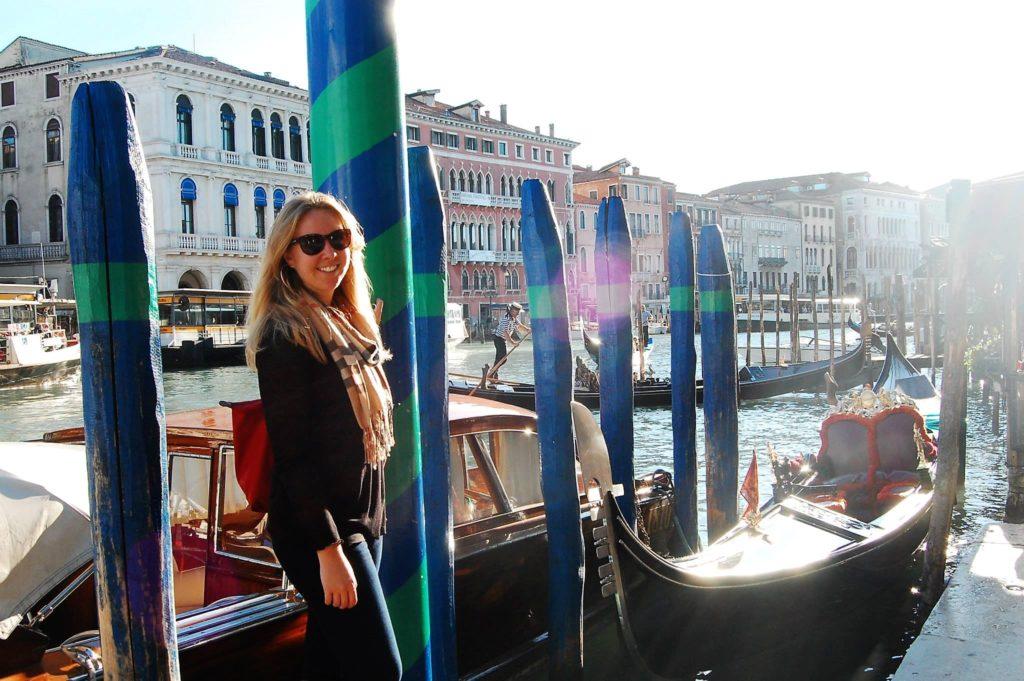 gondola, grand canal, venice, italy, acqua alta