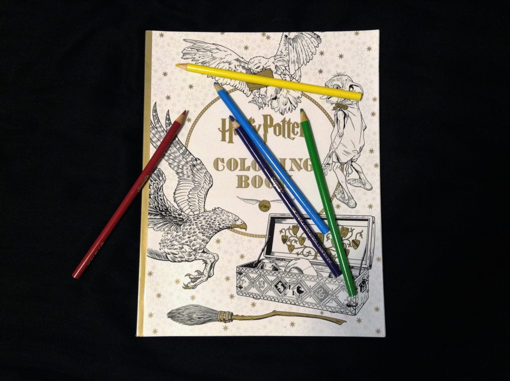 coloring book, harry potter, fear of flying, travel essentials