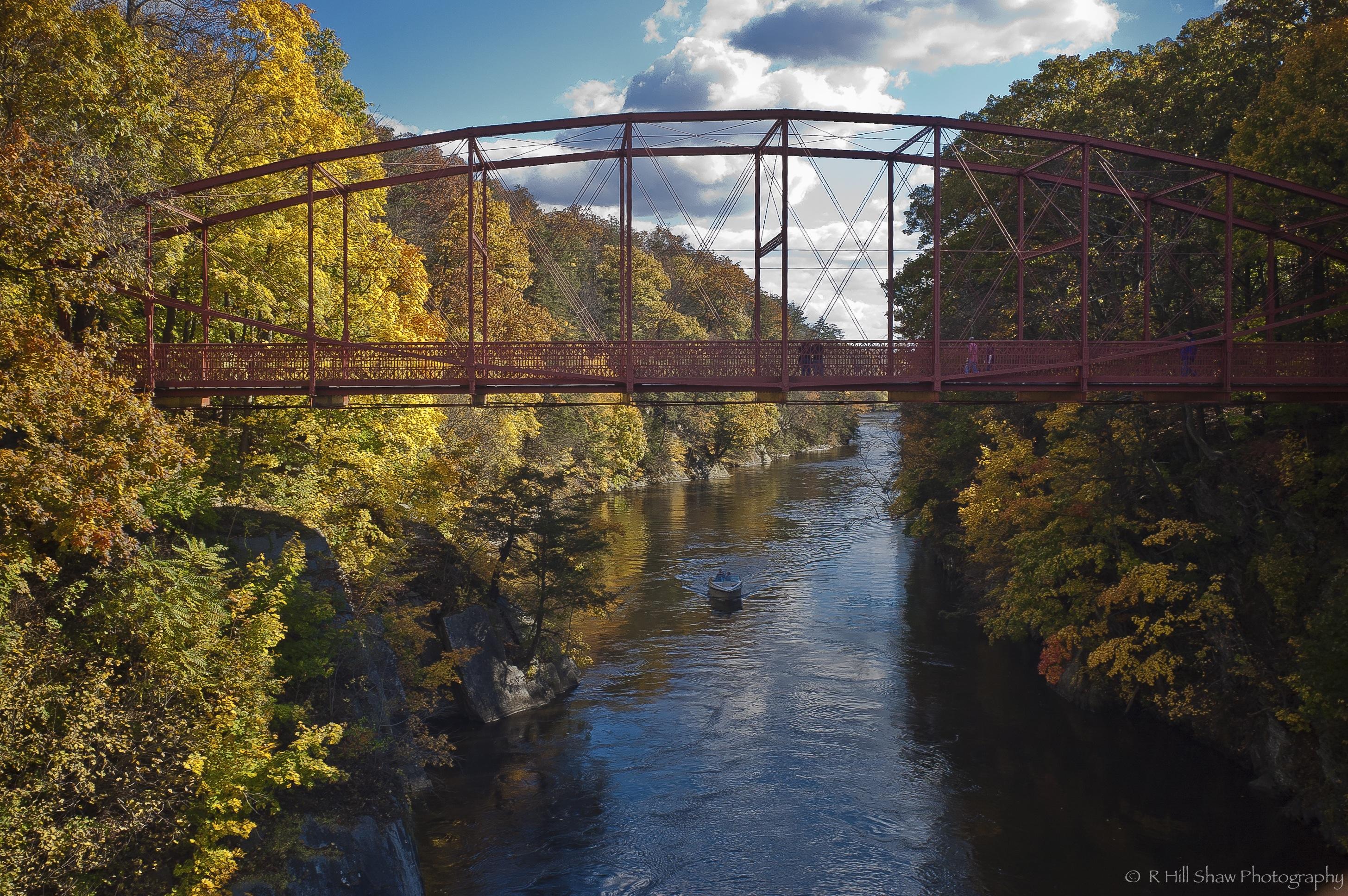 central connecticut, fall, bridge, leaves