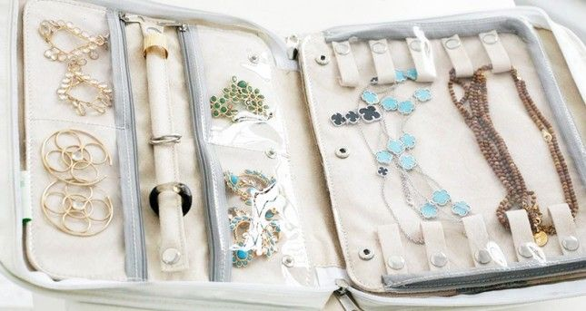 travel jewelry organizer; travel guide