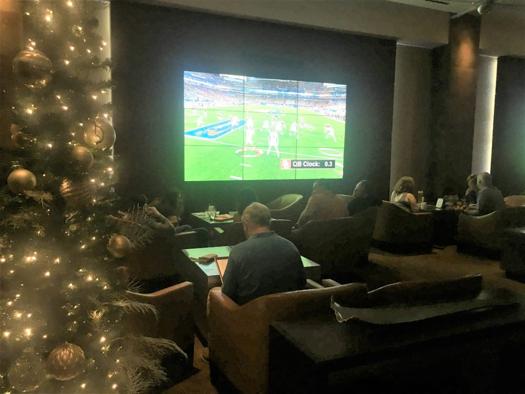 hilton orlando; resort; football lounge