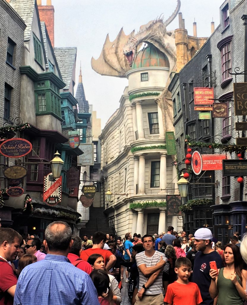 gringotts; diagon alley; harry potter world; universal orlando