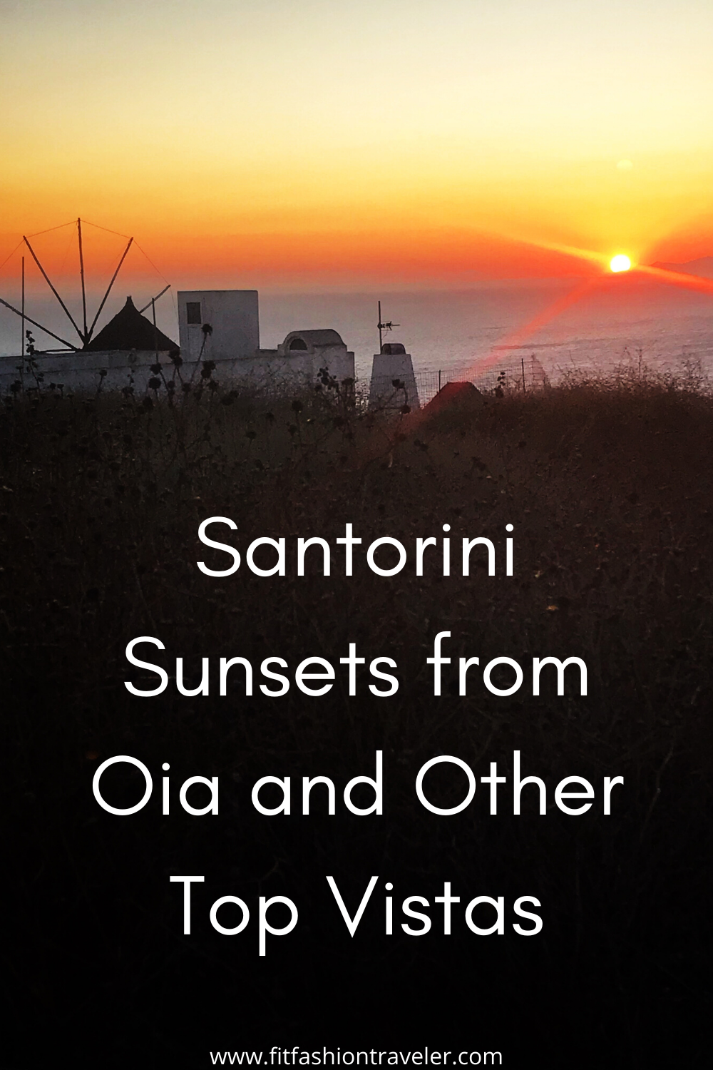 Discover the best places around the island of Santorini from which to watch the sunset